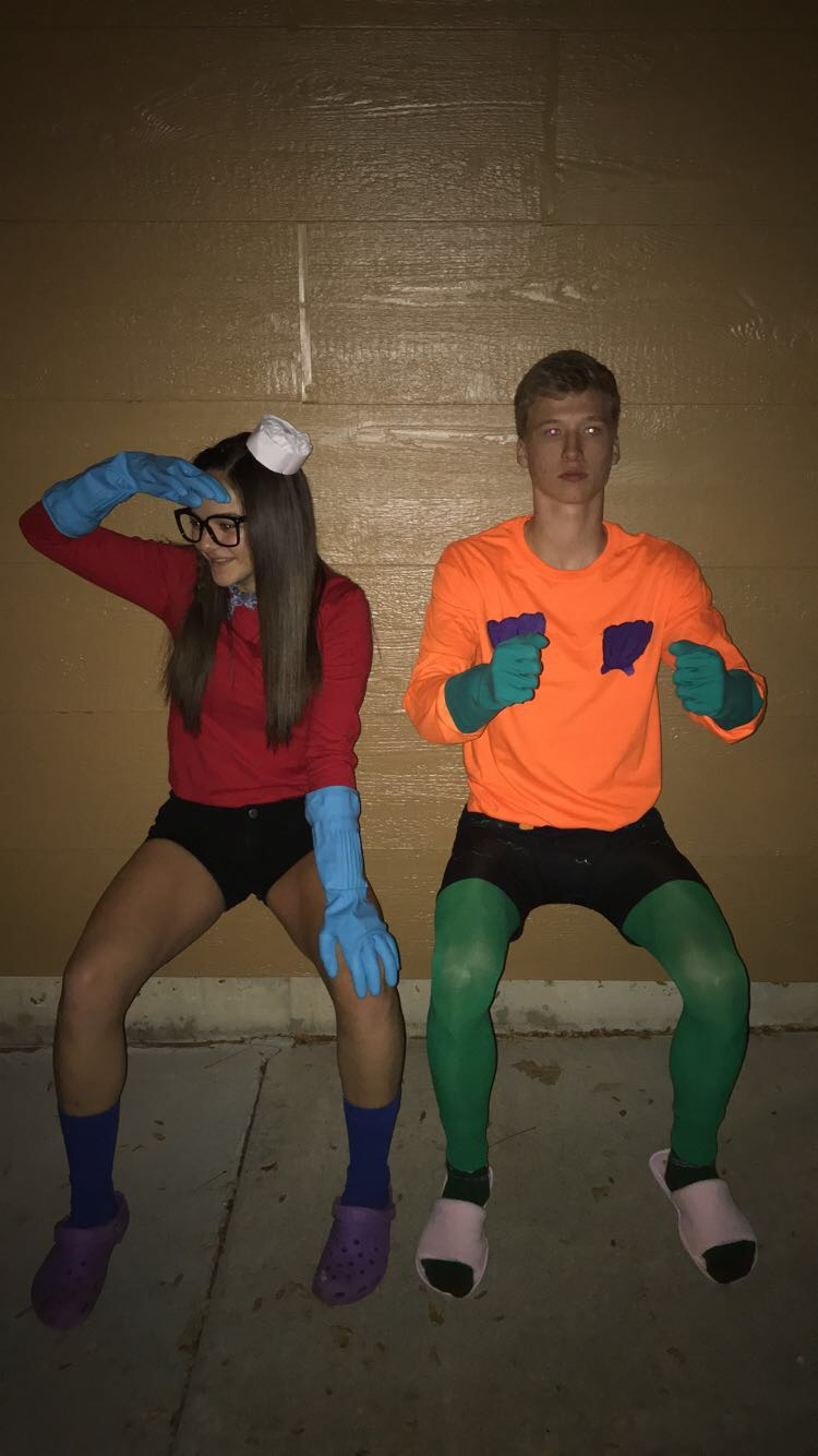 Seniors Kaden Bennett and Demi Raines showed off their spirit and dressed up as Mermaid man and Barnacle Boy last year. Peyton East