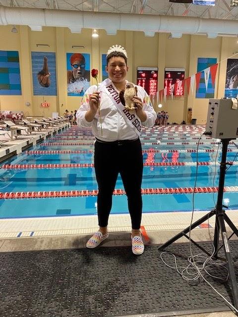 Peyton Asher, girls swim team manager.