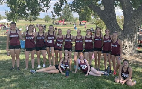 Cross Country Girls at the Horizon Invitation at the Adams County Fairgrounds